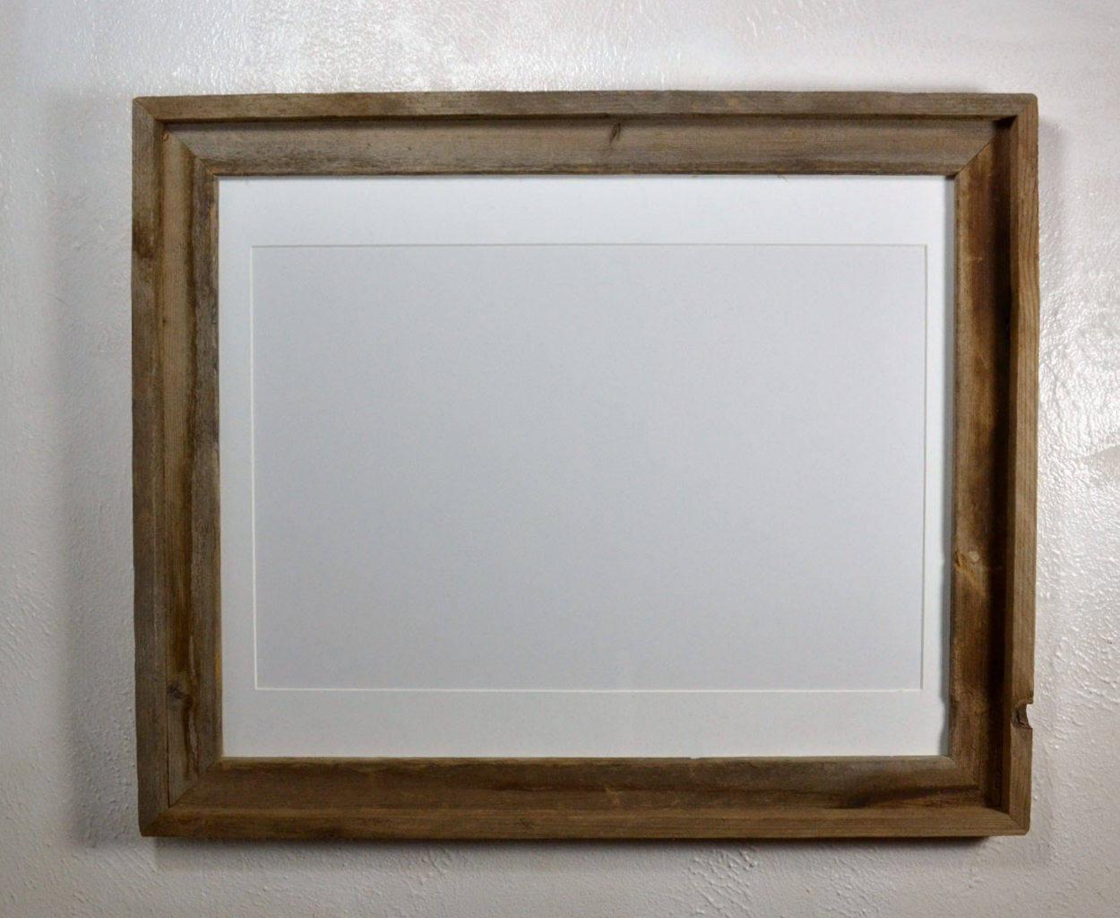 Rustic wood frame 12x18 white mat fits 11x1412x1611x17 or