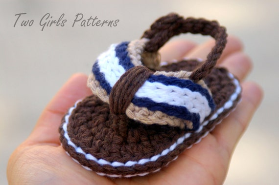 Baby Booties Crochet Pattern for Sporty Baby Flip Flop Sandals