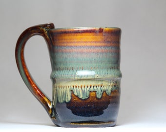 8oz ceramic mug, pottery mug, handmade coffee mug