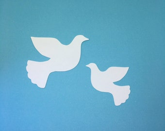 30 Cardstock Die Cut Christmas, Wedding Dove Cut Outs