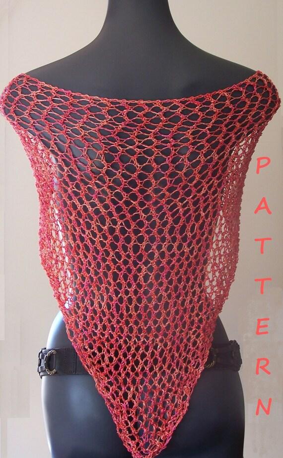 Shawl knitting pattern.Summer triangle lace shawl Free