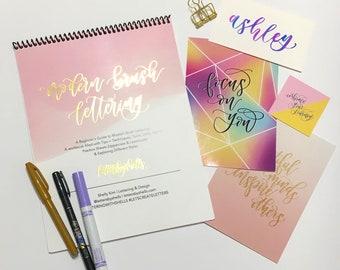 NEW   Beginner's Modern Brush Lettering Kit   Brush Calligraphy   Modern Calligraphy   Hand Lettering