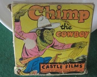 Chimp the Cowboy by Castle Films #621 8 mm vintage 1940's home movie