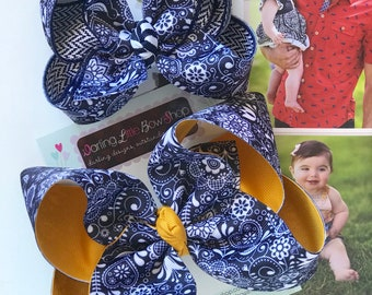 """Hairbows to match Matilda Jane Joanna Gaines Release - Magnolia Summer - choose 4-5"""" or 6"""" bow"""