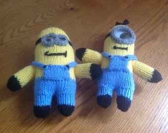 Hand knitted minions