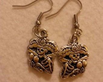 Dona Katrina Sugar Skull Earrings