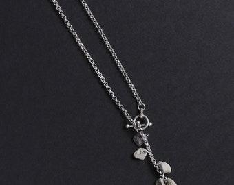 Stonewear - Sterling silver Y necklace