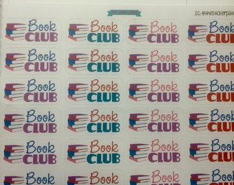 Book club planner stickers - set of 24 , stickers for planners, journals, scrapbooks and more!