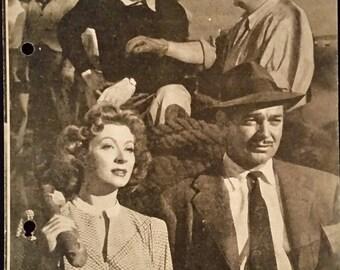 Original 1945 Adventure Austrian Movie Poster Program Pressbook Herald Clark Gable