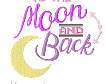 Moon And Back Applique Embroidery Design, cute applique, moon applique, machine embroidery, applique, moon embroidery, baby applique