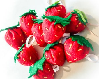Felt Strawberry Keyring Gift