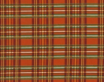 Autumn Bounty Orange Plaid from Timeless Treasures by the yard