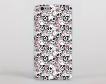 Skulls and Cherry Blossom Hipster Phone Case/Cover for iPhone Case/Cover (iPhone 8 Case/Cover) Samsung Phone Case/Cover - FREE UK DELIVERY