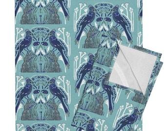 Winter Garden tea towel set of two