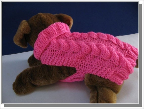 Dog Sweater Knitting Pattern Celtic Doggie Smart Cables