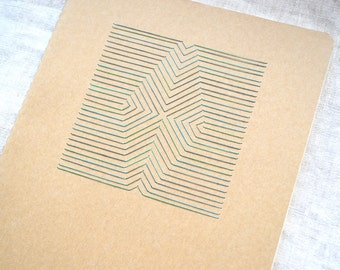Geometric Embroidered Journal