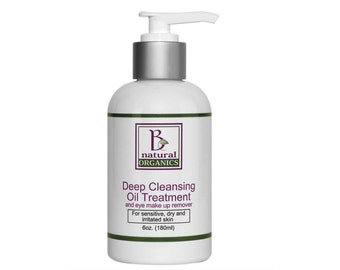 Deep Cleansing Oil Treatment and Eye Makeup Remover - 6 oz
