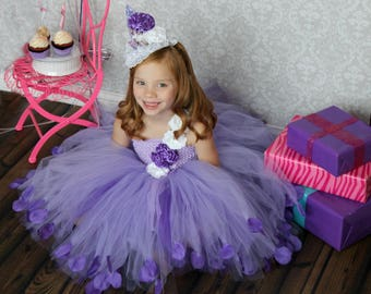 PURPLE Birthday Dress - Ultra Violet First birthdayl dress - Purple Couture Dress - Purple Party Dress - First Birthday Outfit