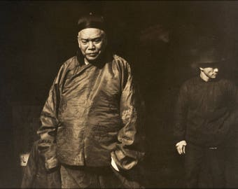 Poster, Many Sizes Available; Arnold Genthe - Merchant And Body Guard, Old Chinatown, San Francisco -