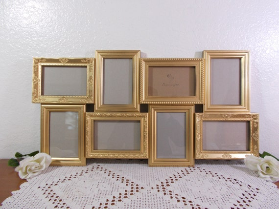 Gold Wedding Seating Chart Ornate Multi Frame Collage Hollywood ...