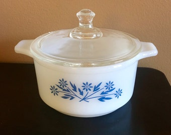 Vintage Dynaware PYRoREY Small Casserole With Lid