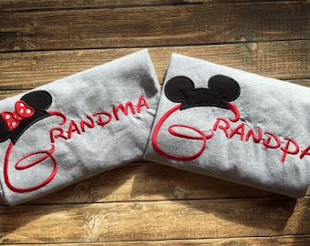 Matching Grandma and Grandpa Disney vacation shirts, grandparent disney shirts, grandparent disney vacation, grandma grandpa disney tee