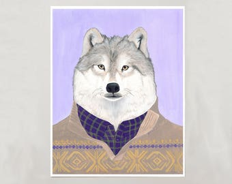 Art Print - Arctic Wolf - Signed by Artist - 3 Sizes - S/M/L