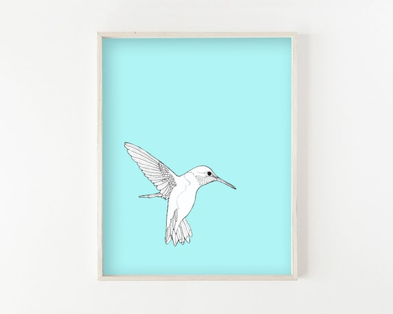 """Hummingbird"" - wall art print"