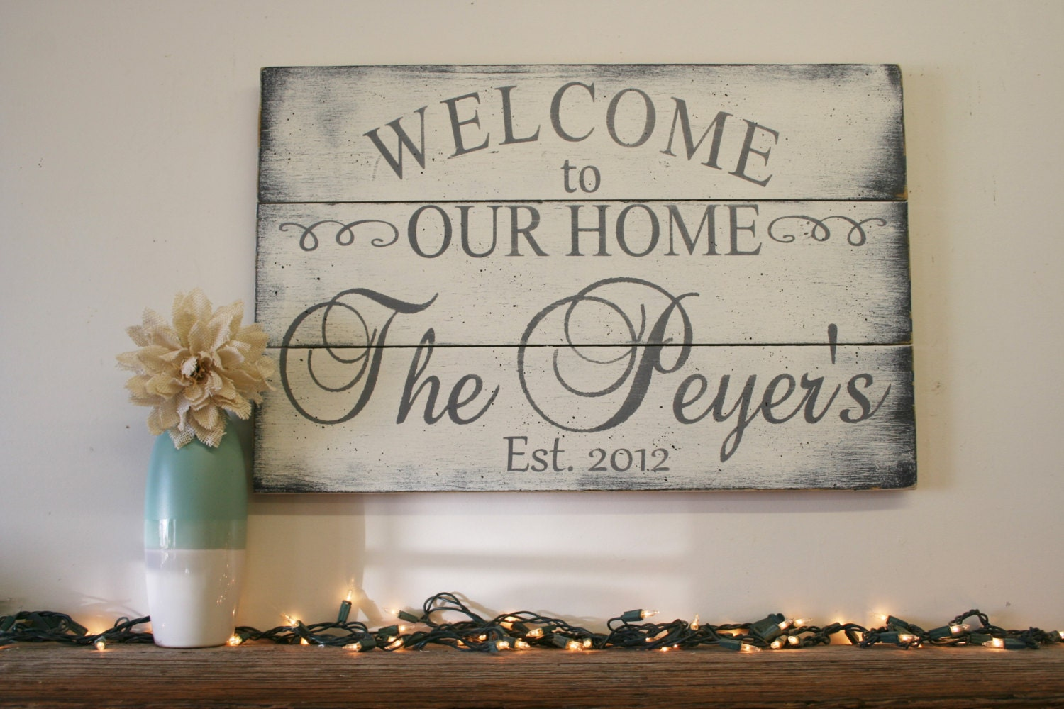 Welcome To Our Home Wood Sign Pallet Sign Wood Family Sign