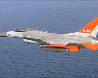 Poster, Many Sizes Available; Air Force Qf-16 Full Scale Aerial Target (Fsat) Drone