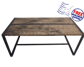 Handmade pine rustic coffee table
