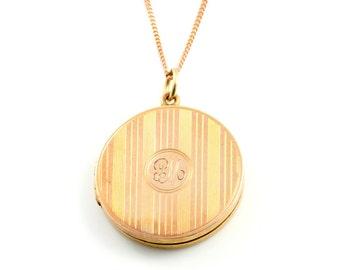 Art Deco Locket 9ct Gold c.1920