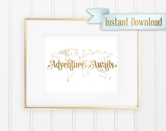 """Disney's Up! Inspired """"Adventure Awaits"""" - Printable - Instant Download"""