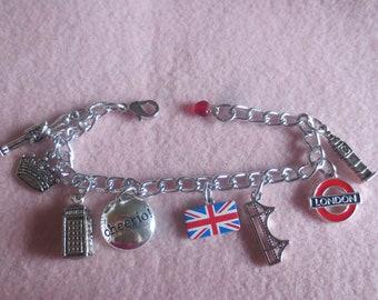 English charm bracelet