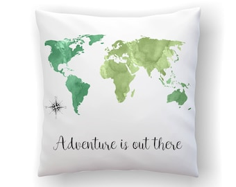 Travel quote pillow etsy gumiabroncs Choice Image