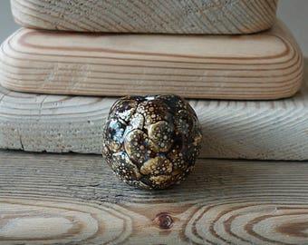 Large ceramic bead handmade