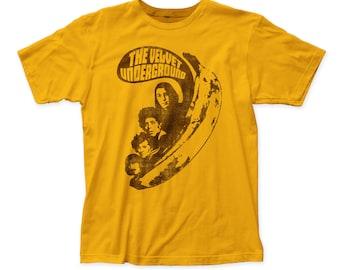 Velvet Underground VU Says Men's Traditional Fit 30/1 Cotton Tee (VU40) Gold
