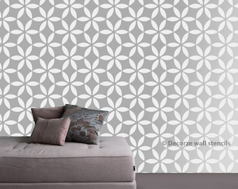 Stencil for DIY home décor, Flower pattern stencil, DIY home wall stencil