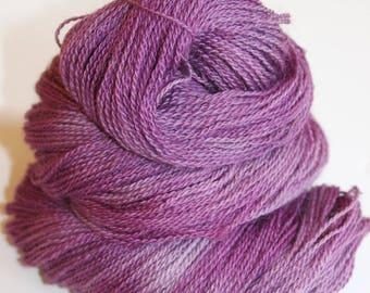 Berries, Hand Dyed, Hand Painted, Yarn, Alpaca, Purple, Lace, 300