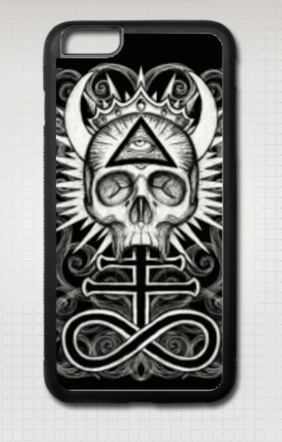 Illuminati Skull iphone case