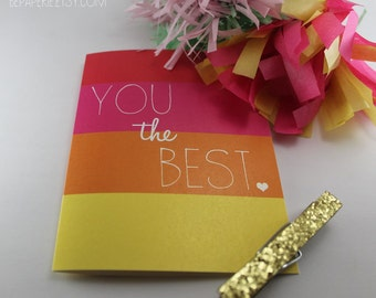 Just Because Stationary / Thank You Card / Friend Card / Blank Inside Card / Thinking of You Card