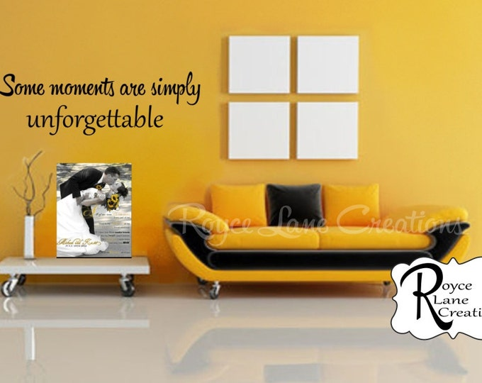 """""""Some Moments Are Simply Unforgettable"""" Photo Wall Display Decal"""