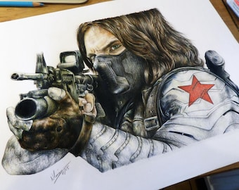 Original - Winter Soldier Pencil Portrait