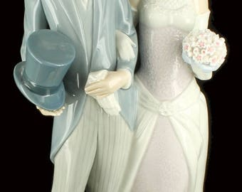 Vintage Lladro Boda Arrogante Wedding Porcelain Figurine Retired #1404