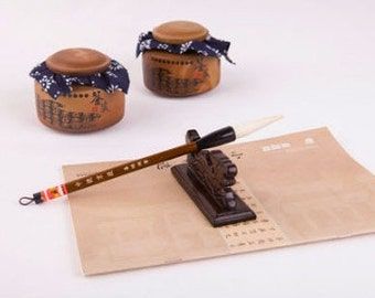 Free Shipping Chinese Calligraphy Material  6.4x1.6x26.4cm Goat Hair Brush Super Quality / JT  (Large) - Wood Handle - 0014L