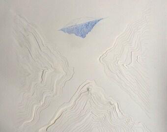 Original Papercut Drawing- cut-paper minimal