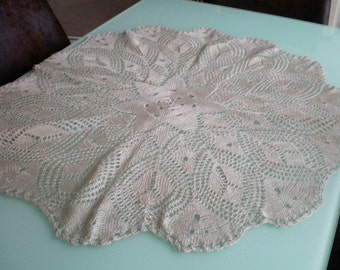 Round 69 cm art Afghan / tablecloth