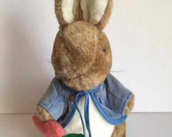 "Peter Rabbit Frederick Warne Plush Eden Toys USA 12"" Carrot Jacket Beatrix Potter Stuffed Animal"