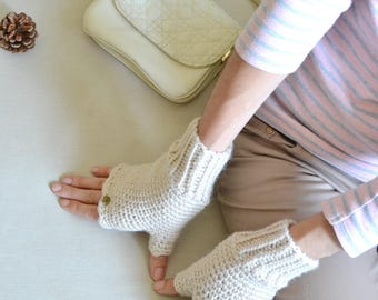knit fingerless gloves birthday gift for her arm warmers travel gift winter gloves knitted gloves personalized gift mothers day gift ideas