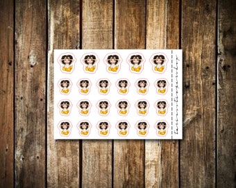 Angry - Cute Brunette Girl - Functional Character Stickers